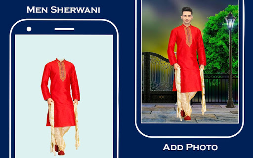 Men Sherwani Suit Photo Editor screenshot 1