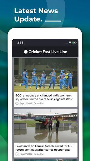 Cricket Fast Live Line 4 تصوير الشاشة