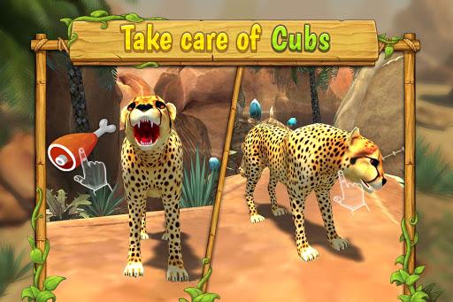 Cheetah Family Sim - Animal Simulator 4 تصوير الشاشة