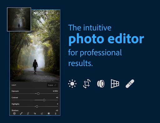 Adobe Lightroom - Photo Editor & Pro Camera screenshot 1