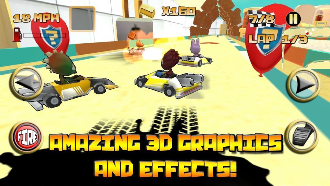 Kartoon Racing Driver simulator 1 تصوير الشاشة