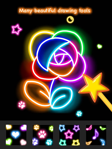 Learn To Draw Glow Flower скриншот 13