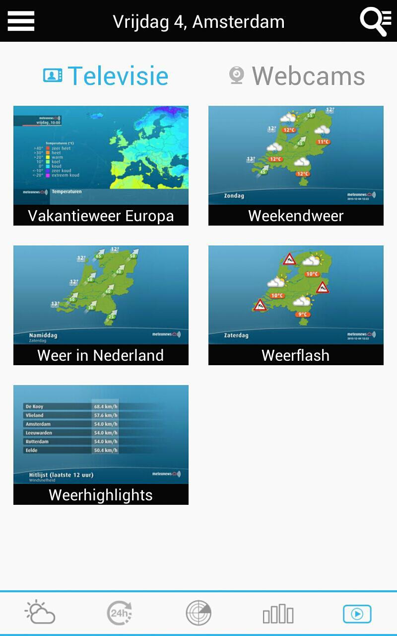 Weather for the Netherlands 6 تصوير الشاشة