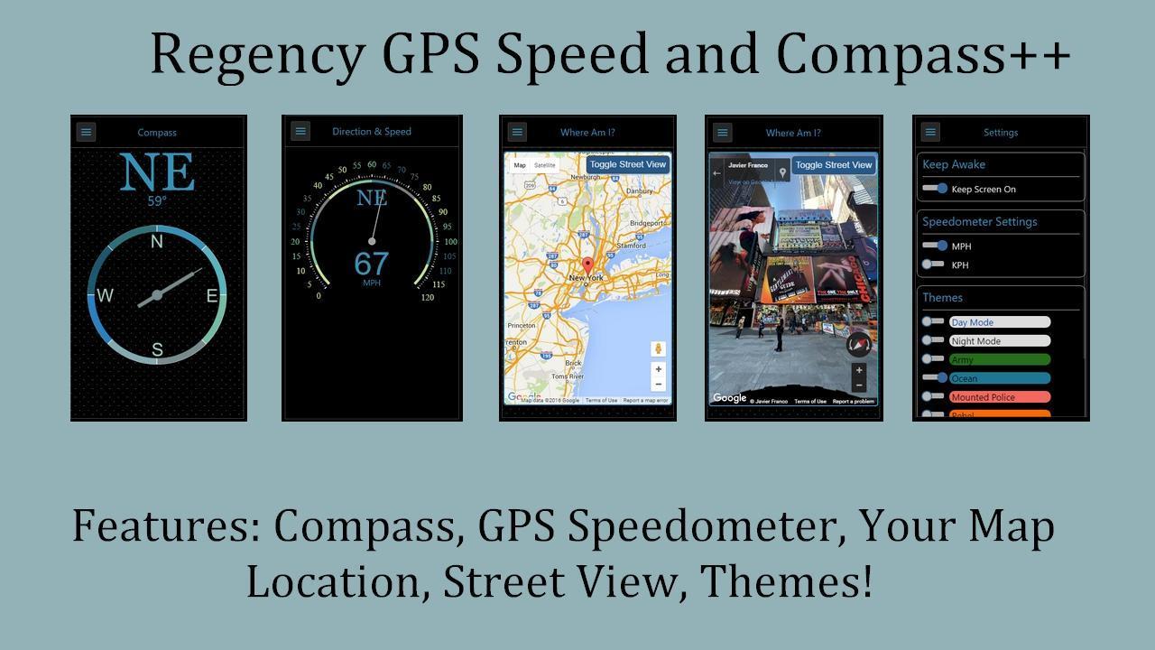 Regency Compass GPS & Speedometer Street View 9 تصوير الشاشة