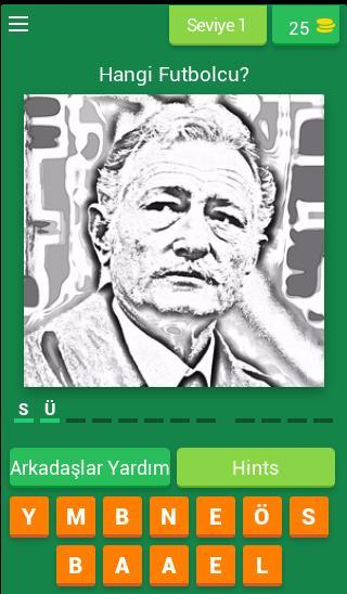 Karakartal Futbolcu Tahmin Oyunu screenshot 1