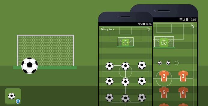 AppLock Theme - Football screenshot 1