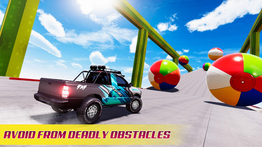 Mega Ramp Car Stunt Racing 3D - Impossible Roads screenshot 5