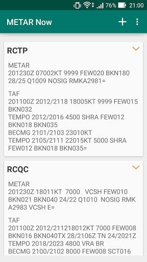 台灣機場天氣(METAR Now) 4 تصوير الشاشة