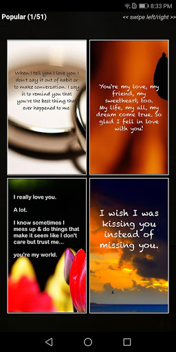 """Love Quotes"""" - Daily Quote, Sayings, & Wallpapers screenshot 1"""