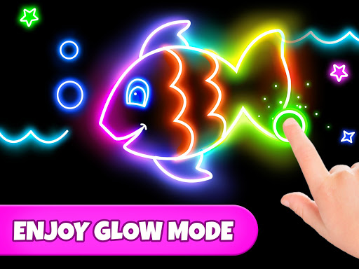 Coloring Games: Coloring Book, Painting, Glow Draw screenshot 9