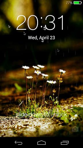 Galaxy rainy lockscreen screenshot 14