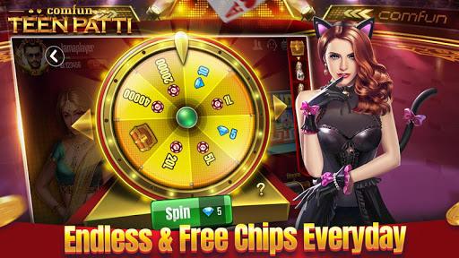 Teen Patti Comfun-Indian 3 Patti Card Game Online 4 تصوير الشاشة