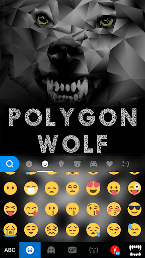Polygon Wolf Keyboard Theme screenshot 4