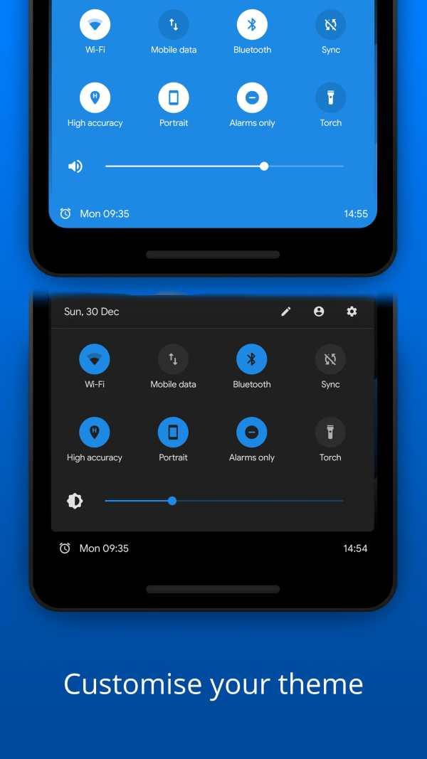 Bottom Quick Settings - Notification Customization screenshot 3