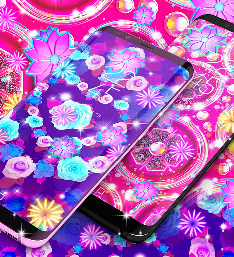 Neon flowers live wallpaper скриншот 5