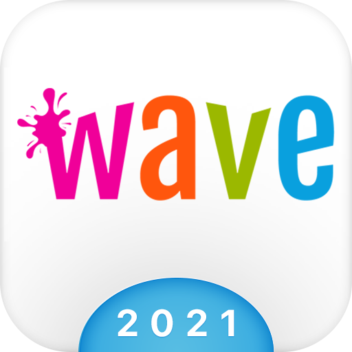Wave Animated Keyboard + Emoji أيقونة