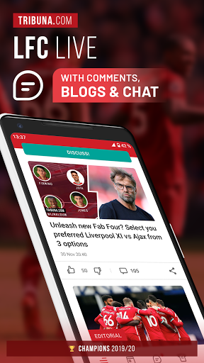 LFC Live – Unofficial app for Liverpool fans screenshot 1