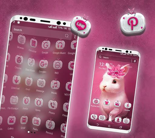 Cute Bunny Launcher Theme screenshot 2