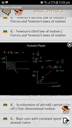 Physics - Tutorials - Lectures screenshot 4
