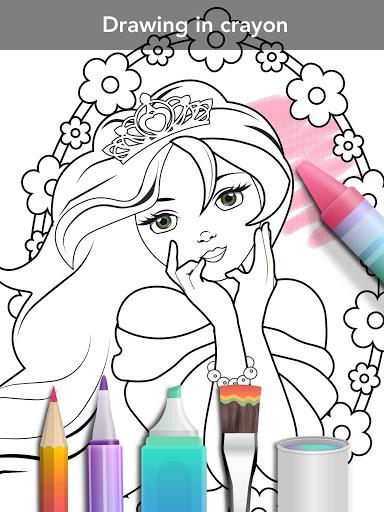 Princess coloring book screenshot 14
