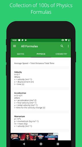 All Formulas - Math, Physics & Chemistry 4 تصوير الشاشة