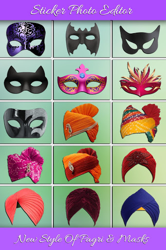 Funny Face and Turban Stickers Photo Editor screenshot 2