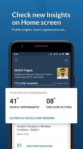 Naukri.com Job Search App: Search jobs on the go! 4 تصوير الشاشة