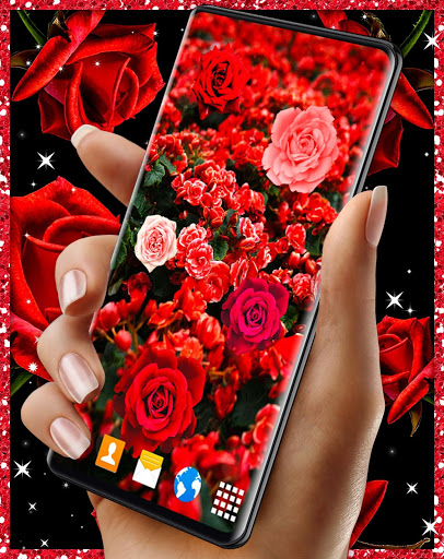 Red Rose Live Wallpaper 🌹 Flowers 4K Wallpapers скриншот 4