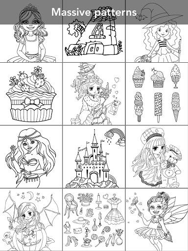 Princess coloring book screenshot 13