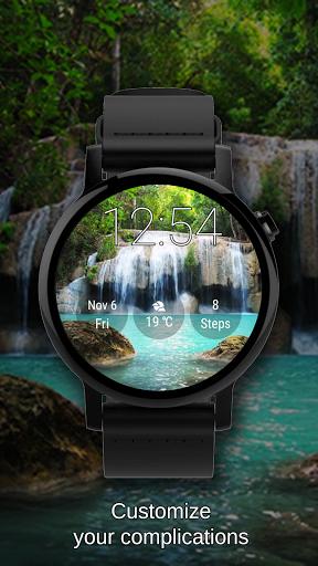 Watch Face Waterfall Wallpaper- Wear OS Smartwatch screenshot 5