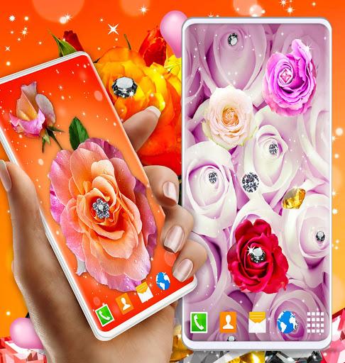 Diamond Rose Live Wallpaper ❤️ Shine HD Wallpapers 7 تصوير الشاشة