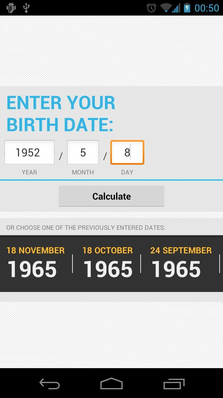 Life Calculator 1 تصوير الشاشة