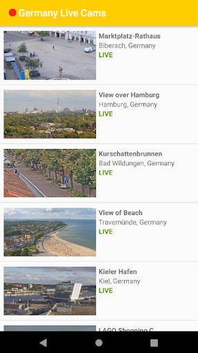 Germany Live Cams 3 تصوير الشاشة