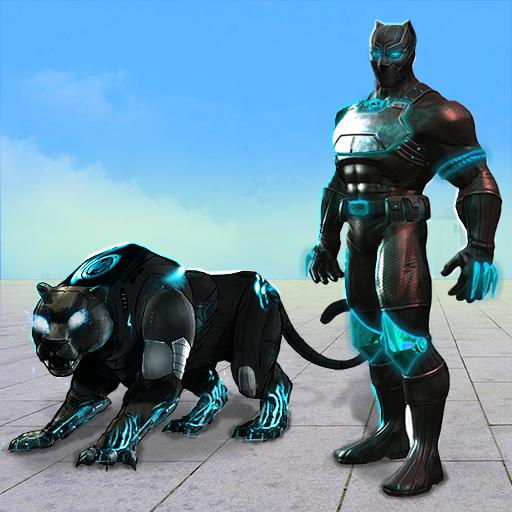 Flying Panther Robot Hero Fighting Game أيقونة
