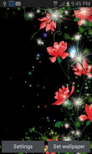 Red Flowers Magic LWP screenshot 1
