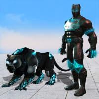 Flying Panther Robot Hero: Robot Black Hero Games on 9Apps