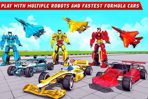 Formula Car Robot Games - Air Jet Robot Transform screenshot 4