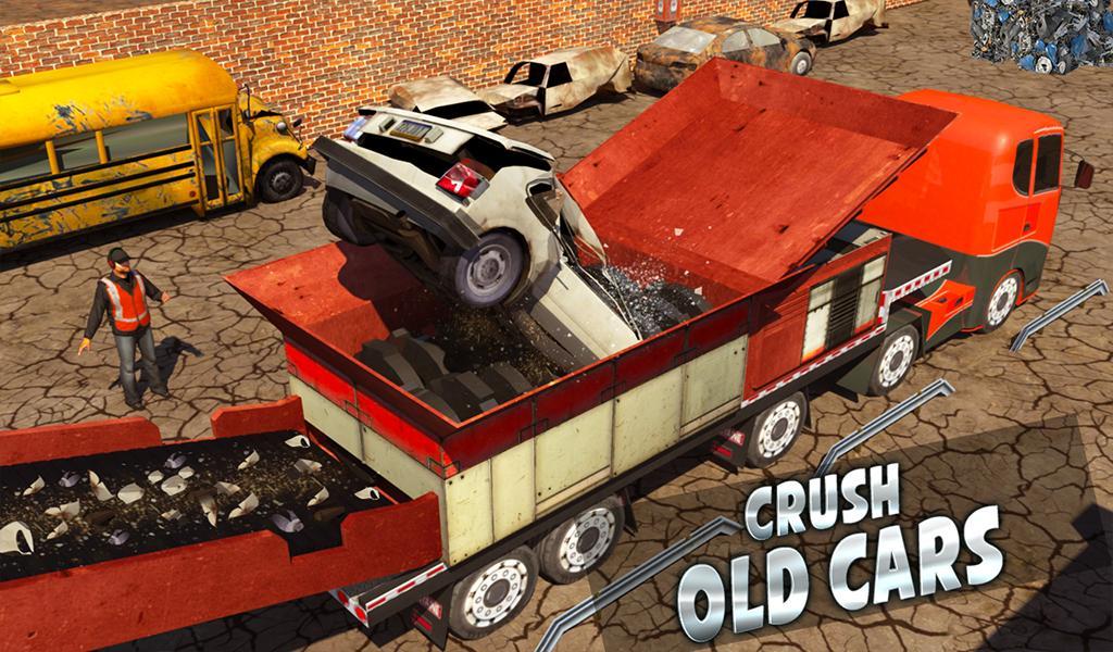 Monster Car Crusher Crane 2019: City Garbage Truck screenshot 13