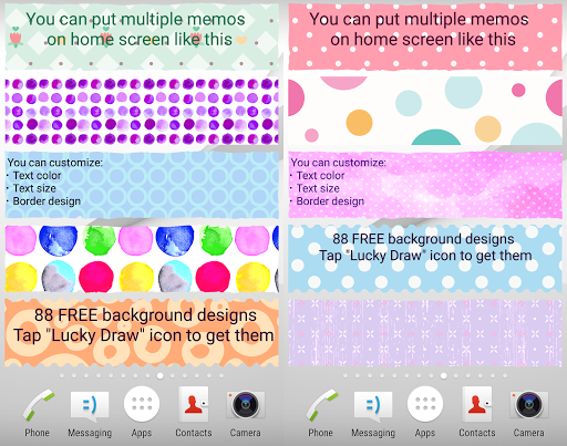 Sticky Memo Notepad *Dots* Free screenshot 5