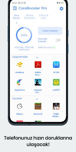 CoreBooster - Oyun ve Uygulama Hızlandırıcı 5 تصوير الشاشة