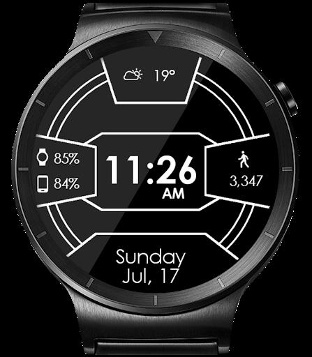 Daring Carbon HD WatchFace Widget Live Wallpaper 17 تصوير الشاشة