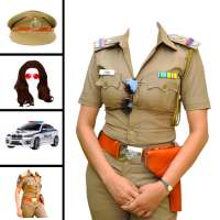 Women police suit photo editor on 9Apps
