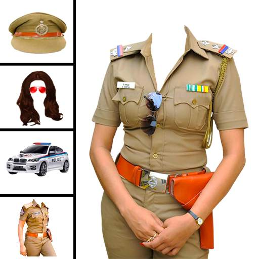 Women police suit photo editor