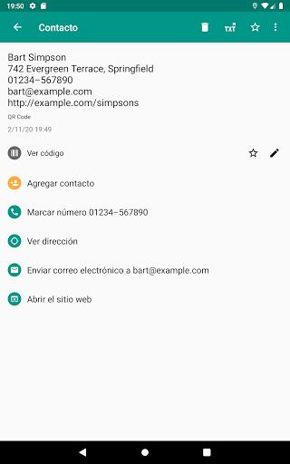 Lector de códigos QR y barras (español) screenshot 10