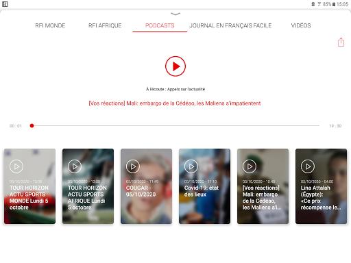 RFI - L'actualité mondiale en direct et podcast 5 تصوير الشاشة