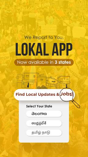 Lokal App - Local Updates, Jobs and Video content screenshot 1