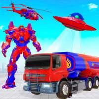 उड़ान तेल टैंकर रोबोट ट्रक रोबोट गेम बनाओ on 9Apps