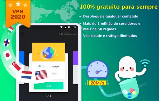 NetCapsule VPN VPN grátis, VPN rápida, Desbloquear screenshot 6
