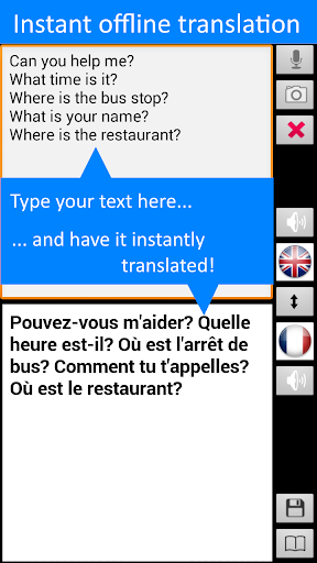 Offline Translator: French-English Free Translate 3 تصوير الشاشة