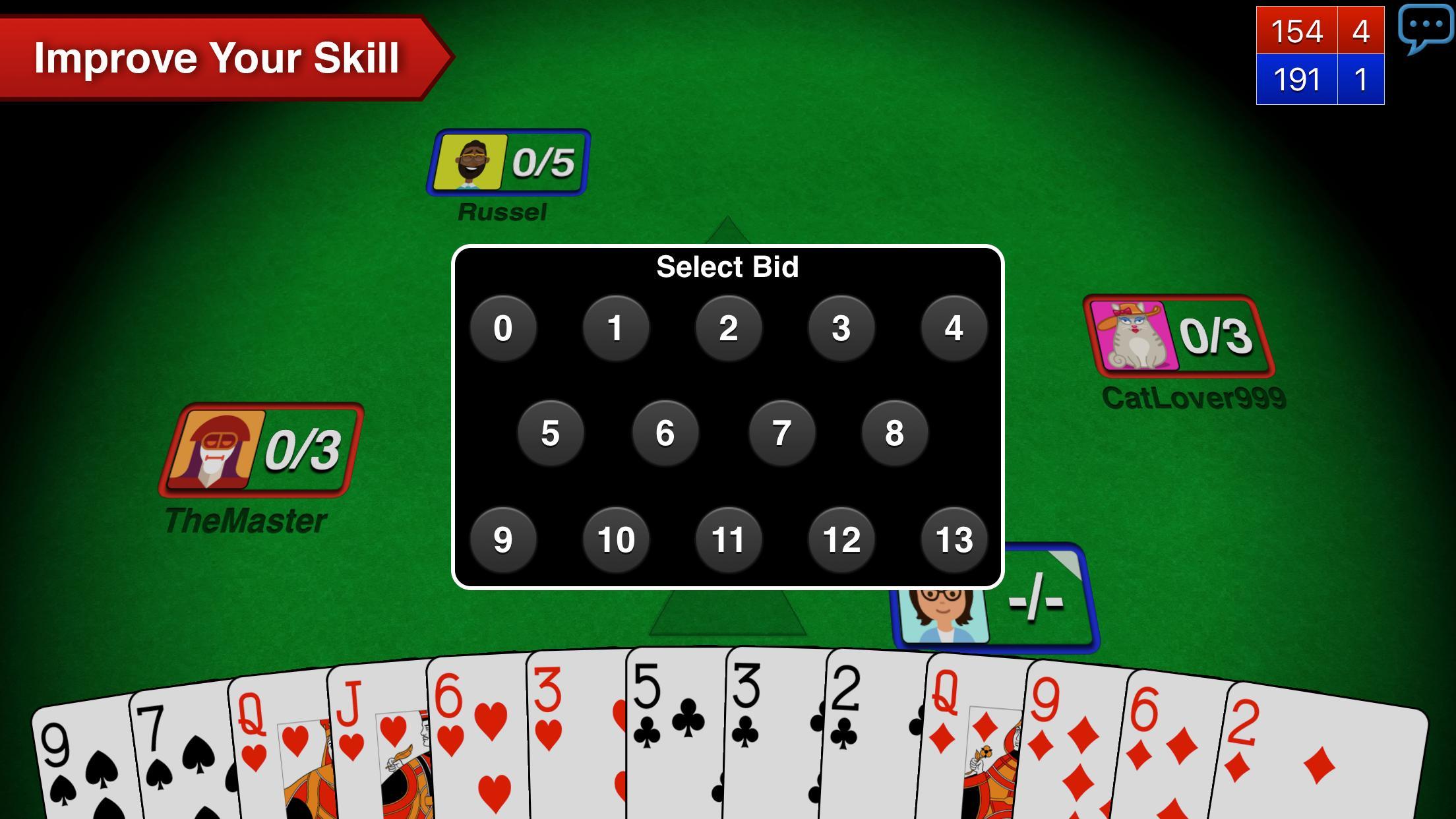 Spades + 3 تصوير الشاشة